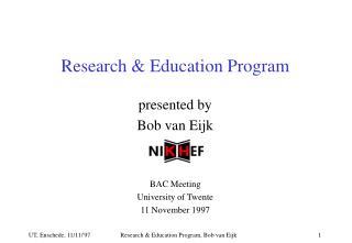 Research & Education Program