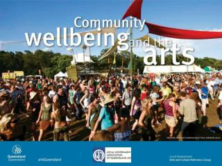 Community wellbeing  and the arts
