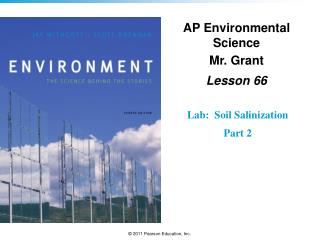 AP Environmental Science Mr. Grant Lesson  66