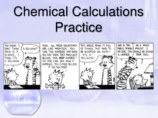 Chemical Calculations Practice