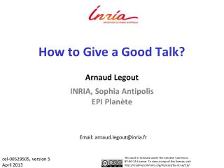 How to Give a Good Talk?