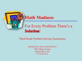 Math Madness