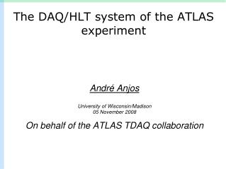 The DAQ/HLT system of the ATLAS experiment