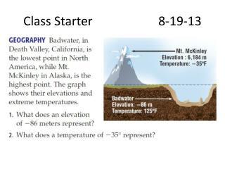 Class Starter8-19-13