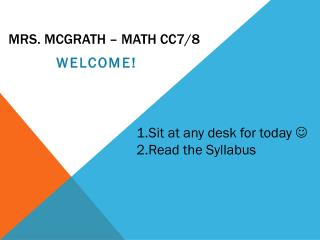 Mrs. McGrath – Math cc7/8
