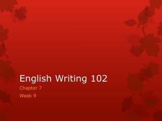 English Writing 102