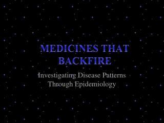 Investigating Disease Patterns Through Epidemiology
