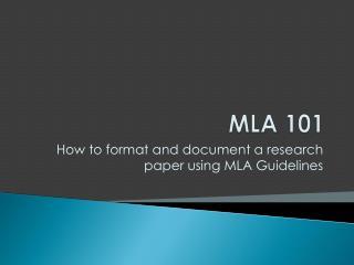 MLA 101