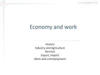Economy and work