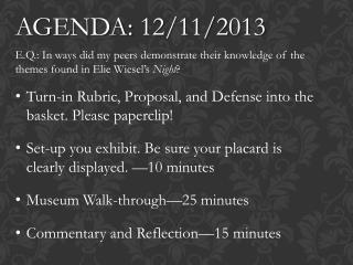 AGENDA: 12/11/2013