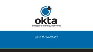 Okta for Microsoft