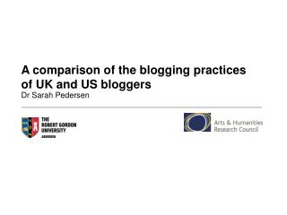 A comparison of the blogging practices of UK and US bloggers