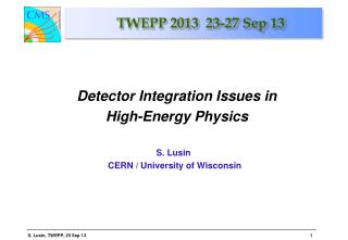 TWEPP 2013  23-27 Sep 13