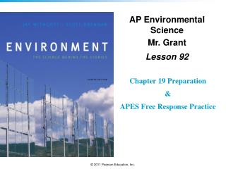 AP Environmental Science Mr. Grant Lesson  92