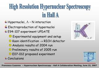 High Resolution Hypernuclear Spectroscopy  in Hall A