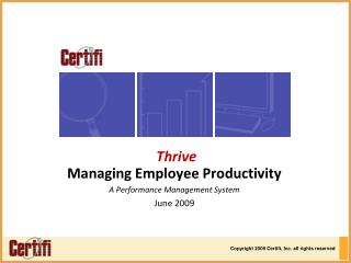 Managing Employee Productivity A Performance Management System June 2009