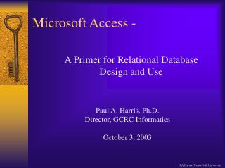 Microsoft Access -