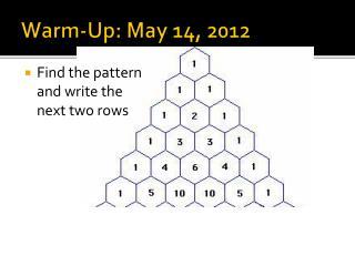 Warm-Up : May 14, 2012