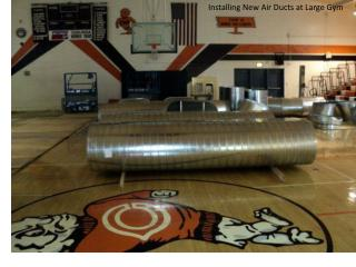Installing New Air Ducts at Large Gym