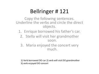Bellringer  #  121
