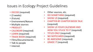Issues in Ecology Project Guidelines