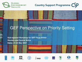 GEF Perspective on Priority Setting