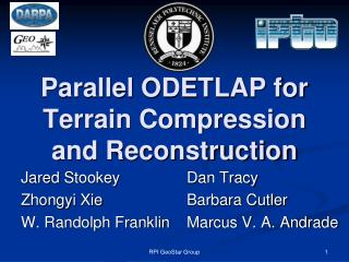 Parallel ODETLAP for Terrain Compression and Reconstruction