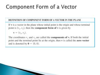 Component Form of a Vector