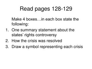 Read pages 128-129