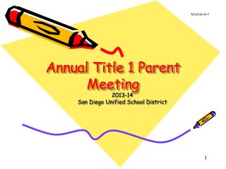 Annual Title 1 Parent Meeting