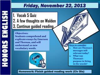 Friday , November  22,  2013