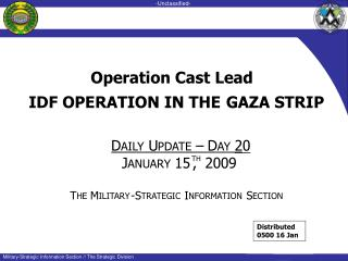 IDF OPERATION IN THE