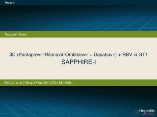 3D (Paritaprevir-Ritonavir-Ombitasvir + Dasabuvir) + RBV in GT1 SAPPHIRE-I