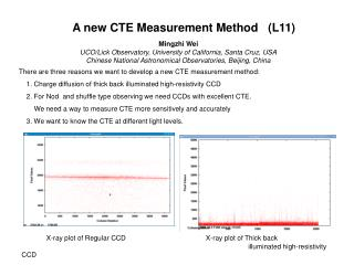There are three reasons we want to develop a new CTE measurement method: