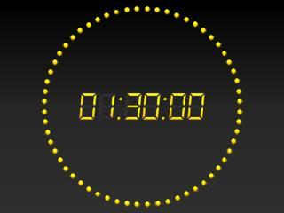 PowerPoint 2010 Digital Clock 90 mins
