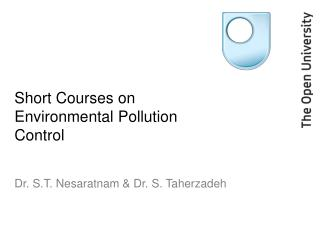 Short Courses on Environmental Pollution Control