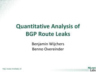 Quantitative  Analysis of BGP Route Leaks