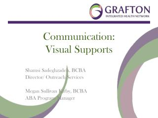 Communication:  Visual Supports