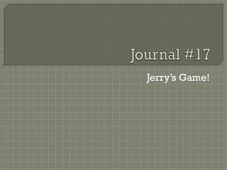 Journal #17