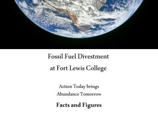 Fossil Fuel Divestment at Fort Lewis College
