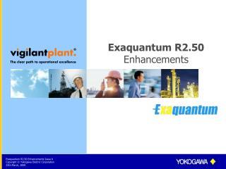 Exaquantum R2.50 Enhancements