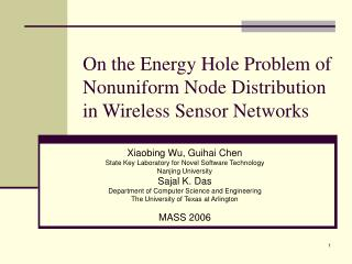 On the Energy Hole Problem of Nonuniform Node  Distribution in Wireless Sensor Networks