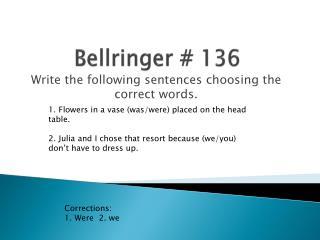 Bellringer  #  136