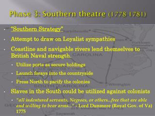 Phase 3: Southern theatre  (1778-1781)