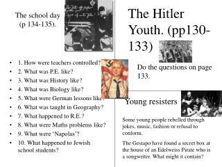 The school day (p 134-135).