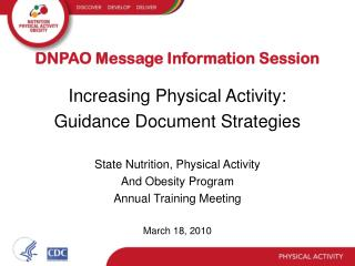 DNPAO Message Information Session