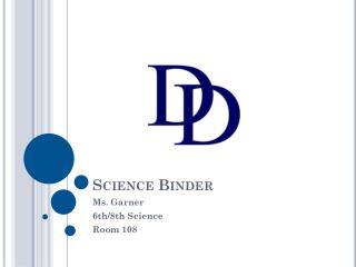Science Binder
