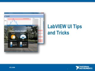 LabVIEW  UI Tips and Tricks