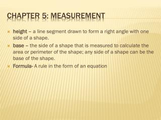 Chapter 5: Measurement