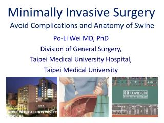 Minimally Invasive Surgery Avoid Complications and Anatomy of Swine